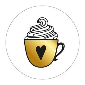 5 Stickers   Hot Cup (Gold Foil)
