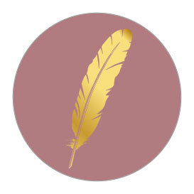 5 Stickers   Feather (Gold Foil)