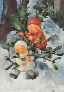 Postcard Mili Weber - Mistletoe Bough