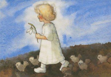 Postcard Mili Weber - Towards Spring