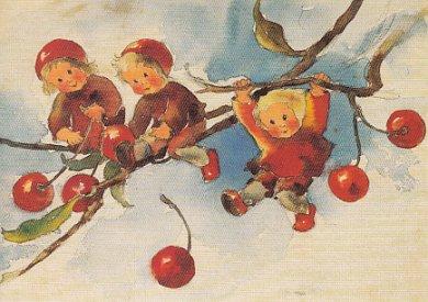 Postcard Mili Weber - The Cherry Children