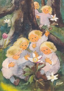Postcard Mili Weber - Come and Look at the Anemones in Bloom
