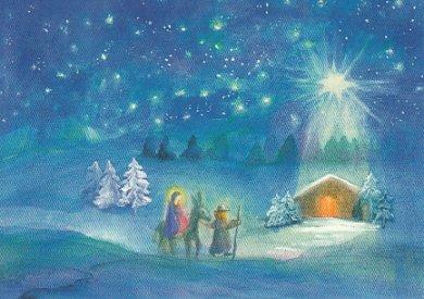 Postcard Dorothea Schmidt - To the stable of Bethlehem
