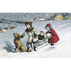 Postcard Ludom   Snowing