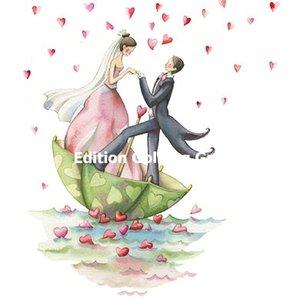 Nina Chen Postcard | Bridal Couple