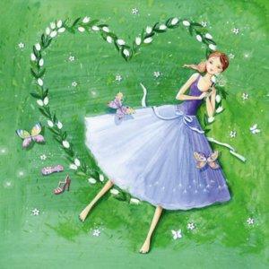 Postcard Kristiana Heinemann | Dreamy girl in the flower heart