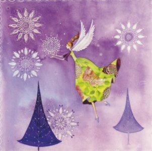 Postcard Kristiana Heinemann | Elf with ice crystals