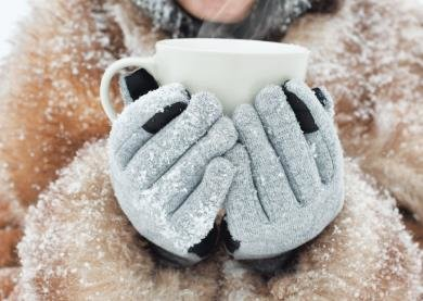 Postcard | Warm drink in winter