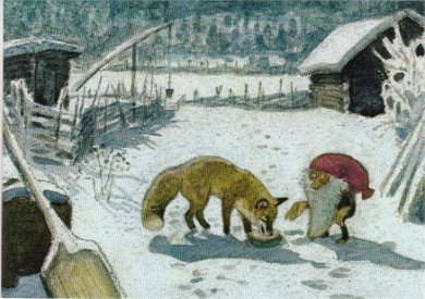 Postcard | Tomten and the Fox (Tomte Tummetot)