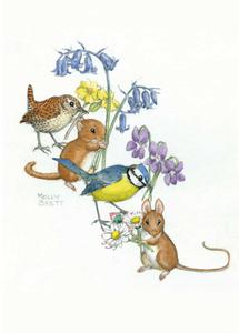 Postcard Molly Brett | Animals And Flowers
