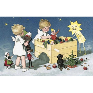 Postcard Ludom   Angels with Toys