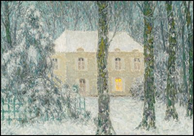 Museum Cards Postcard | Winter evening