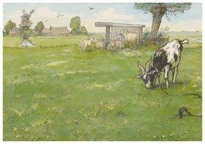 Postcard | Cornelis Jetses - Detail: Leesplankje