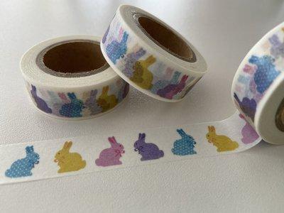 Washi Masking Tape | Rainbow Bunnies