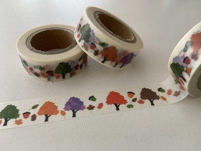 Washi Masking Tape | Season Trees with Acorns