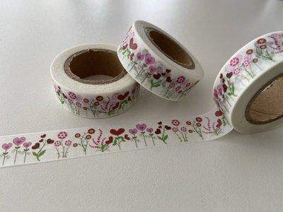 Washi Masking Tape   Flower Hearts
