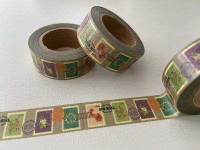 Washi Masking Tape | Airmail Vintage Stamps