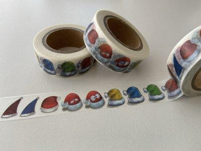 Washi Masking Tape | Christmas Hats