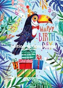 Rita Berman Postcard | Happy Birthday (Toucan)