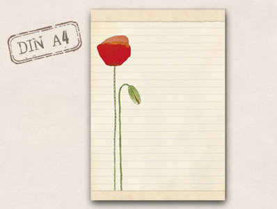 A4 Letter Paper Pad TikiOno   Heller Mohn