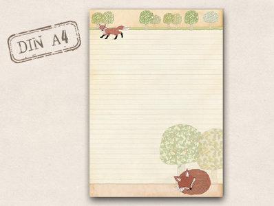 A4 Letter Paper Pad TikiOno | Fuchs