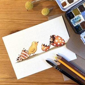 Hello World - Postcard with envelope by Esther Bennink