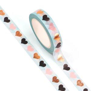 Washi Masking Tape | 10mm Foil Hearts