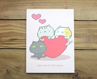 Letter Paper Pad   Cat Cat Little Stars