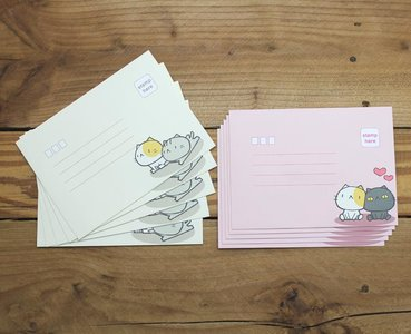 Envelopes Cat Cat Little Stars (2 designs)