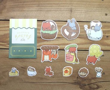Squeaky's Bakery Waterproof Stickers