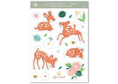 Matte Vinyl Spring Deer Stickers by Mila-Made