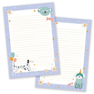 A5 Doggies Notepad - Double Sided