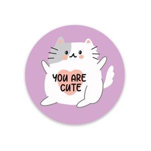 5 x You Are Cute Cat Stickers