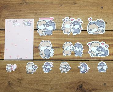 chai chai & yuanyuan Waterproof Stickers