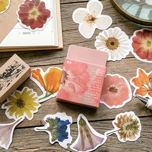 Sticker Flakes Box   Spring Flowers