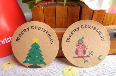 Sealing Stamp Stickers X-mas | Owl and Christmas Tree
