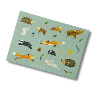 Sticker Sheet - Happy days in the wood