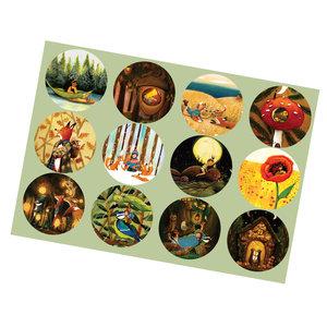 Sticker set of 12 pieces