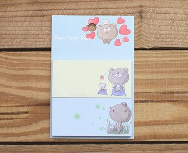 Honey Bear Sticky Notes Memopad Set