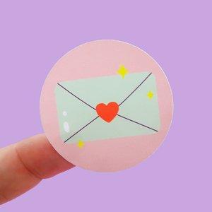 5 x Happy Mail Envelope Stickers