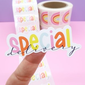 5 x Special Delivery Stickers