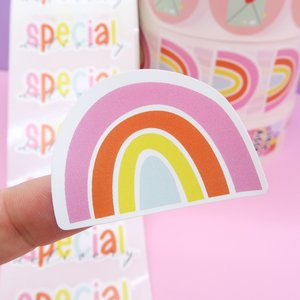 5 x Rainbow Stickers