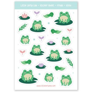 Frog Stickers - Little Lefty Lou