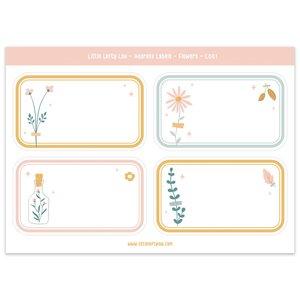 Flower Address Labels - Little Lefty Lou