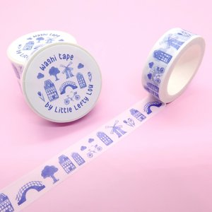 Delft Blue Dutch Washi Tape - Little Lefty Lou
