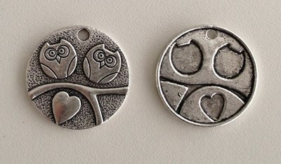Tibetan Silver Tone Animals Charms Pendants - Hearts Owls on Tree
