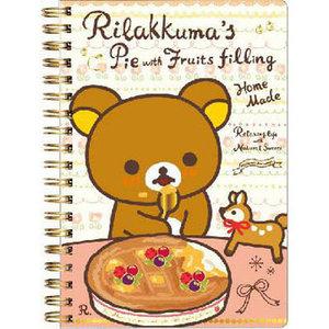 San-X Rilakkuma Ring Binder Notebook | Happy Natural Time