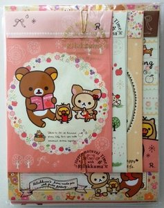San-X Rilakkuma Letter Set - Happy Natural Time