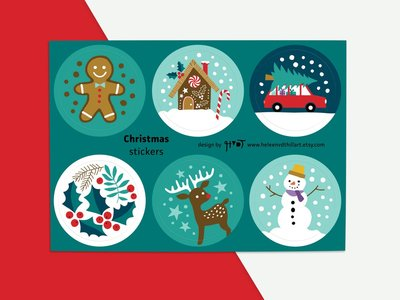 Stickervel Christmas by Heleen van den Thillart