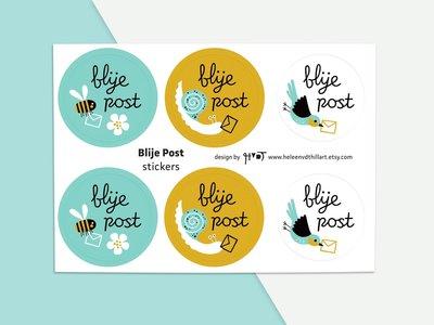 Stickervel Blije Post by Heleen van den Thillart